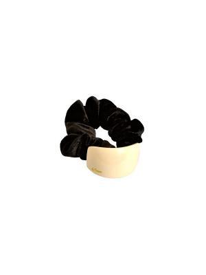 Резинка la France. Цвет: черный, кремовый