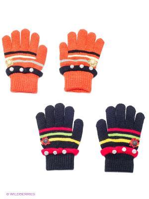 Перчатки, 2 пары FOMAS. Цвет: черный, оранжевый
