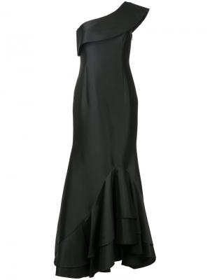 Asymmetric ruffle dress Sachin And Babi. Цвет: чёрный