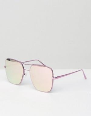 Quay Australia Квадратные авиаторы с зеркальными розовыми стеклами Sto. Цвет: розовый