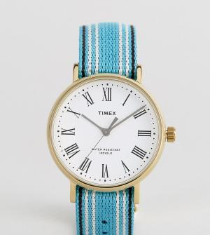 Timex Двусторонние часы с белым циферблатом Fairfield Avenue эксклюзив. Цвет: мульти