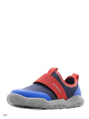 Кроссовки CROCS. Цвет: темно-синий, красный