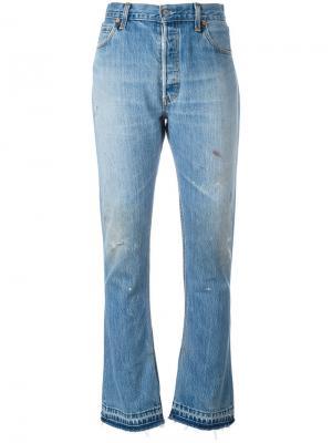 Расклешенные джинсы Elsa Re/Done. Цвет: синий