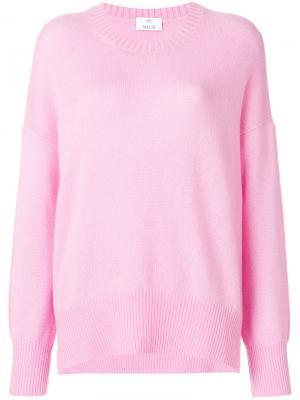 Классический приталенный свитер Allude. Цвет: розовый и фиолетовый