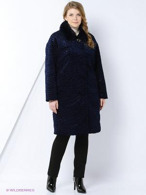 Пальто утепленное Socrat. Цвет: синий