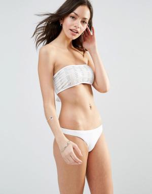 Melissa Odabash Купальник-бикини в стиле бандо Lagoon. Цвет: белый
