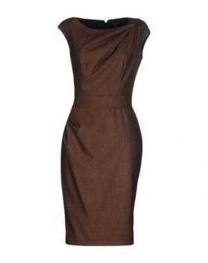 Платье до колена AXARA PARIS. Цвет: темно-коричневый