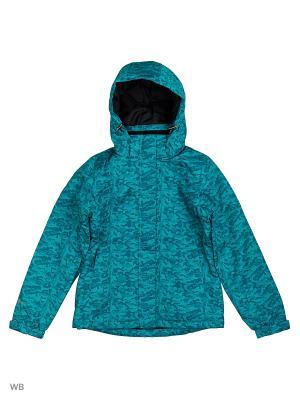 Куртка Guahoo. Цвет: бирюзовый
