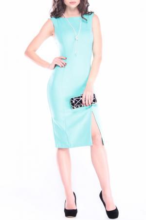 Офисное платье REBECCA TATTI. Цвет: ментоловый