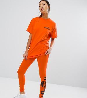 Ellesse Леггинсы с логотипом сбоку. Цвет: оранжевый