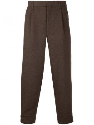 Классические брюки-чинос Kolor. Цвет: коричневый