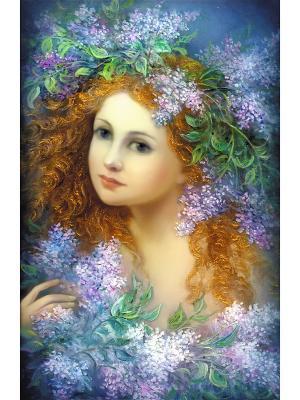 Набор для вышивки лентами и бисером Весна Матренин Посад. Цвет: синий, зеленый, коричневый