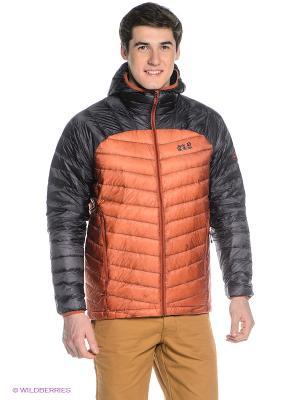 Куртка ARGO JACKET MEN Jack Wolfskin. Цвет: терракотовый, черный