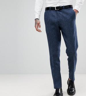 Heart & Dagger Узкие эластичные брюки из твида. Цвет: темно-синий