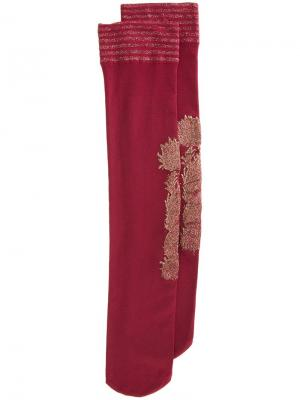 Носки с отделкой эффектом металлик Uma Wang. Цвет: красный