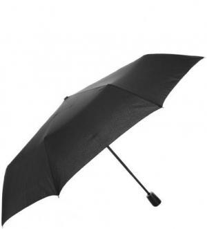 Однотонный складной зонт Doppler. Цвет: черный