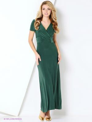 Платье МадаМ Т. Цвет: темно-зеленый, темно-серый, серый
