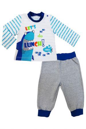 Комплект SONI KIDS. Цвет: белый, серый