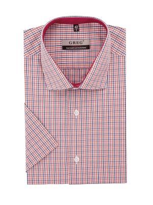 Рубашки GREG. Цвет: синий, белый, рыжий