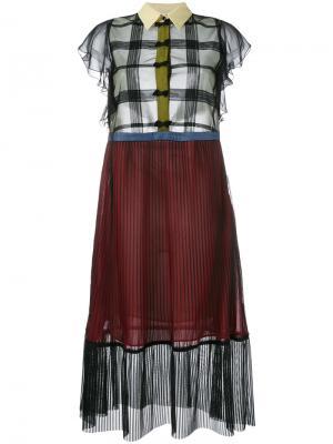 Платье с панельным дизайном Marco De Vincenzo. Цвет: чёрный