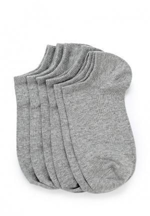Комплект носков 6 пар oodji. Цвет: серый