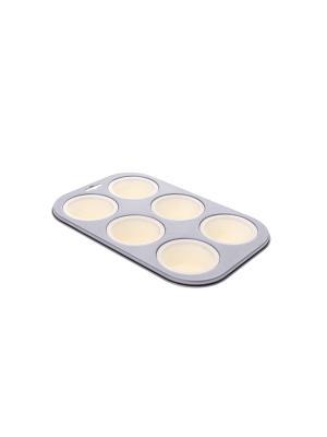 Форма для запекания кексов Floret Plus Elff Ceramics. Цвет: кремовый