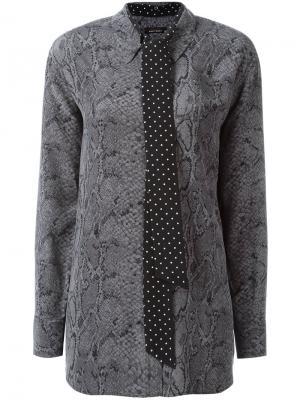 Блузка с принтом змеиной кожи Equipment. Цвет: серый