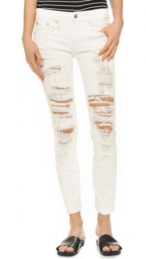 Непринужденные джинсы-скинни R13. Цвет: атомный бежевый
