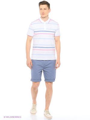 Футболка-поло Modis. Цвет: светло-серый, бледно-розовый, серый, голубой