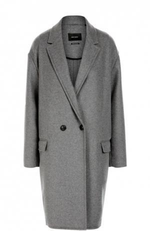 Двубортное пальто со спущенным рукавом Isabel Marant. Цвет: серый