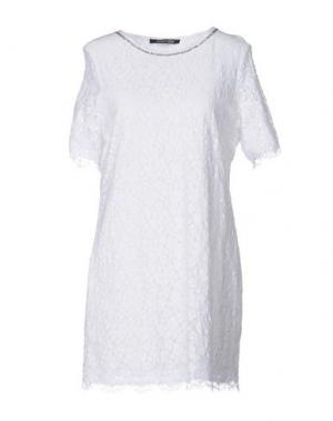 Короткое платье NAUGHTY DOG. Цвет: белый