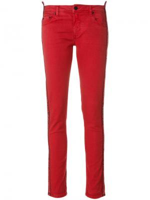 Эластичные джинсы скинни Off-White. Цвет: красный