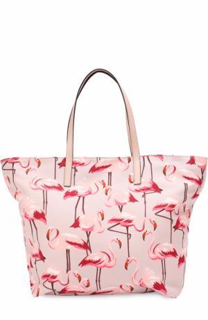 Текстильная сумка-шоппер с принтом REDVALENTINO. Цвет: розовый