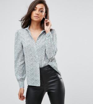 Fashion Union Tall Рубашка с длинными рукавами и мелким цветочным принтом T. Цвет: мульти