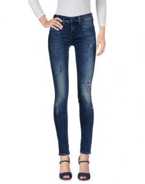 Джинсовые брюки RUDERIDERS. Цвет: синий