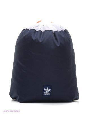 Сумка Gymsack Running Adidas. Цвет: темно-синий