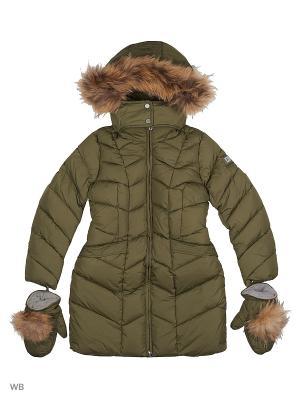 Пальто SNOWIMAGE. Цвет: хаки