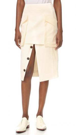 Мягкая идеально скроенная юбка camilla and marc. Цвет: теплый кремовый