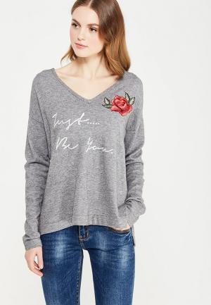 Пуловер Springfield. Цвет: серый