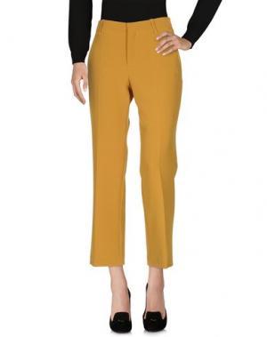 Повседневные брюки TWELVE-T. Цвет: охра