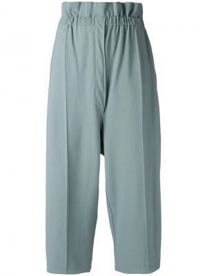 Укороченные брюки Boboutic. Цвет: зелёный