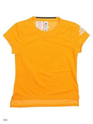 Футболка спортивная дет. YG CCHILL TEE  CHISOL/MSILVE Adidas. Цвет: желтый