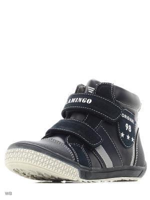 Ботинки Flamingo. Цвет: темно-синий
