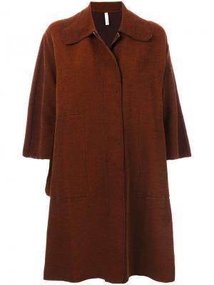 Свободное пальто Boboutic. Цвет: коричневый
