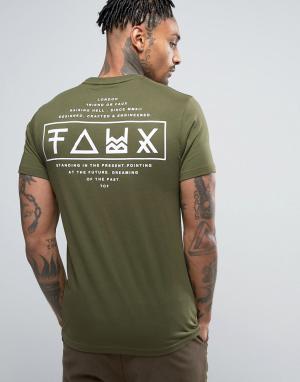 Friend or Faux Футболка с принтом на спине Limitless. Цвет: черный