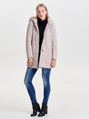 Пальто ONLY. Цвет: бежевый