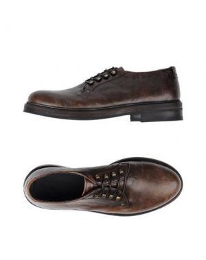 Обувь на шнурках MAURON. Цвет: коричневый