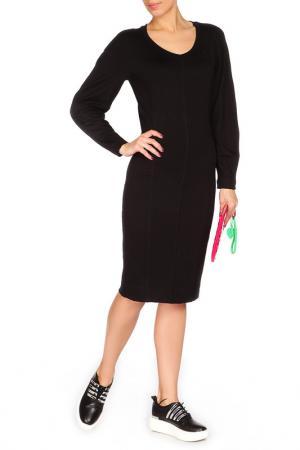 Комфортное платье на каждый день BGN. Цвет: черный