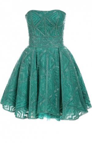 Вечернее платье Zuhair Murad. Цвет: зеленый