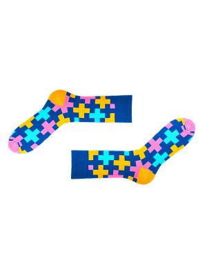 Носки Sammy Icon. Цвет: синий, розовый, желтый